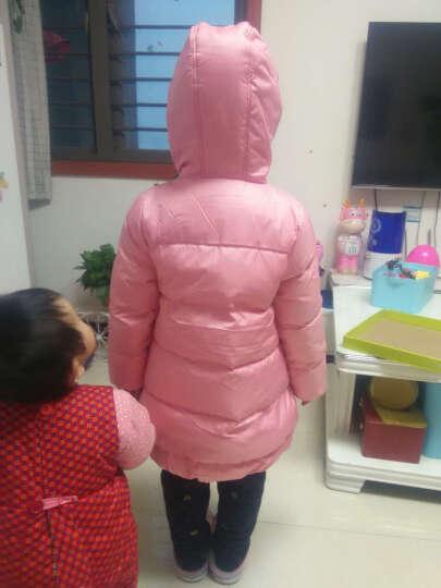 笛莎女童羽绒服冬装品牌童装女童甜美公主风外套舒适百搭中长款914 皮粉 120 晒单图