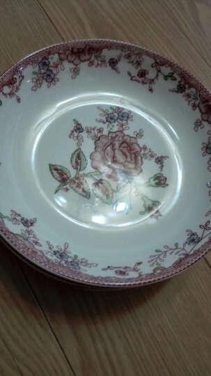 敏杨 套装盘子(4只装)陶瓷盘子菜盘家用水果盘子瓷器中式餐具 菜碟子7/8英寸盘子 纯白骨瓷8.5英寸 晒单图