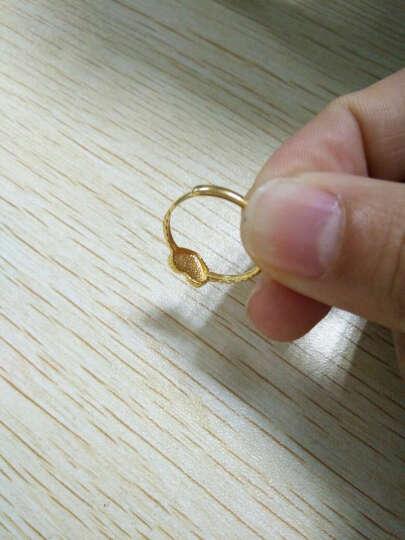 【心选好礼】花好玉缘 爱心 18K黄金戒指 求婚订婚戒指  晒单图