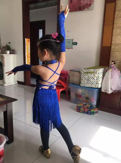 猫度MAODU儿童拉丁舞服装演出服女童舞蹈比赛服少儿流苏连衣裙演出服六一表演服MD117 红色(五件套不含头饰耳坠) S 晒单图