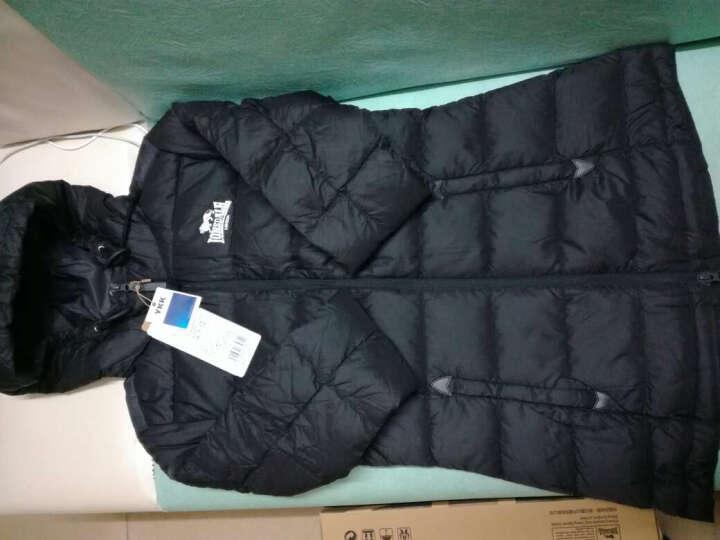 龙狮戴尔 lonsdale女士中长款轻薄羽绒服修身显瘦冬装新款韩版女装外套 1668橄榄绿 160/S 晒单图