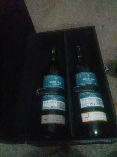 西班牙原瓶进口红酒 西莫赫朗德诺娅干红葡萄酒 750ml*2瓶 双支皮盒礼盒装 晒单图