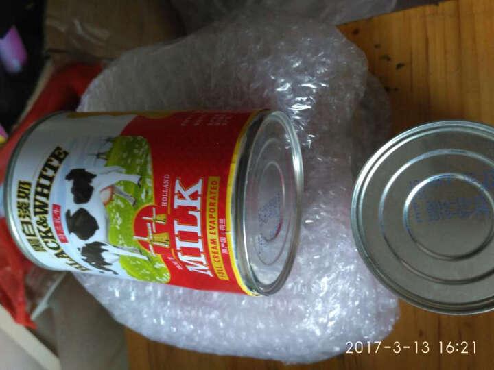 免邮 荷兰进口黑白全脂淡奶港式丝袜奶茶甜品原料 黑白淡奶400g*4罐奶茶套餐 晒单图