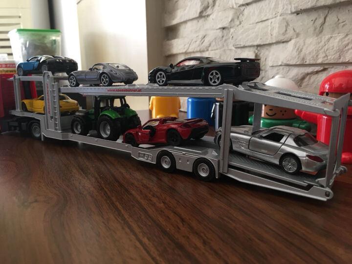 德国品牌siku仕高合金车玩具平板拖车运输车卡车货运车惯性车模型玩具 平板拖车带联合收割机 U1620 晒单图