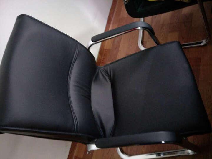 【丞懿】弓形电脑椅 简约黑色皮艺办公椅 会议椅子 时尚家用椅子 黑色 环保皮 晒单图