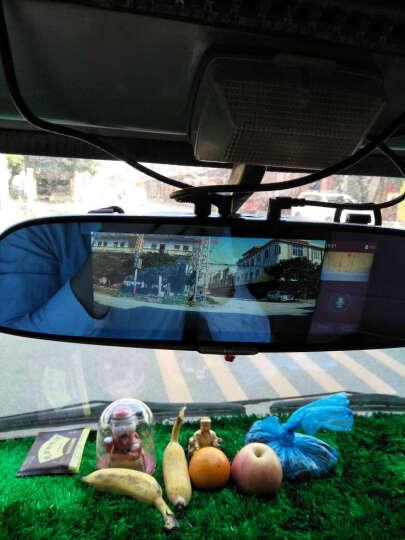 丁威特 新款10英寸行车记录仪流媒体高清无光夜视前后双录双镜头全景倒车影像电子狗后视镜一体机 套餐一:单镜头+32G卡 晒单图