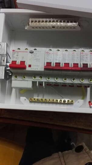 万千家用配电箱强电箱12回路套装配开关断路器 开关盒配电盒开关箱 10回路暗装配电箱 晒单图