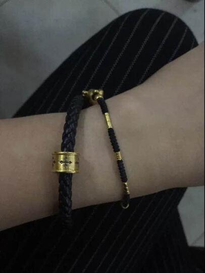 黛梦尼珠宝 黄金手链 3D硬足金吊坠 DIY守护智慧力量转运珠手链 送礼男女款 可做吊坠 信念(小版) 晒单图
