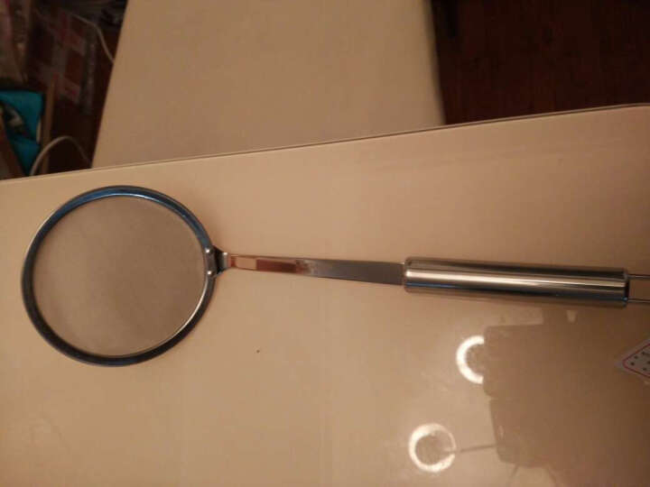 威佰士不锈钢漏网勺加密滤网豆浆网隔汤渣挂勺子烘焙面粉筛 晒单图