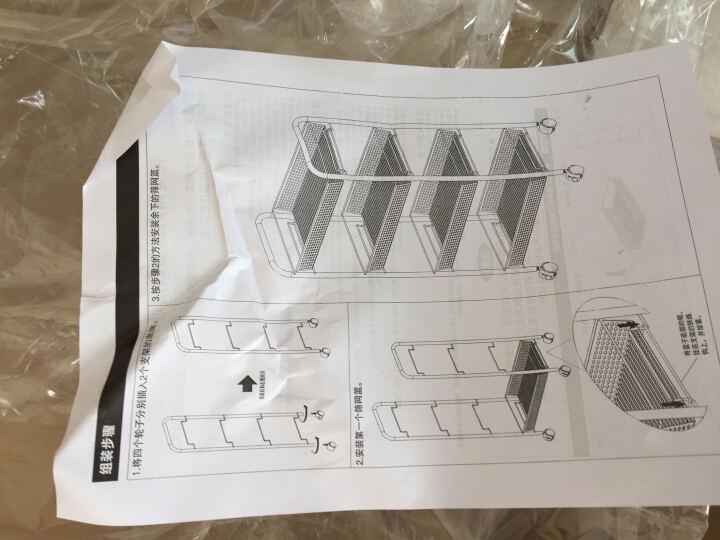小美 (XMEE) 厨房置物架 零食饮料收纳架 带轮厨房收纳架 客厅卫生间浴室储物架 粉红色四层 长44*宽26*高85cm 晒单图
