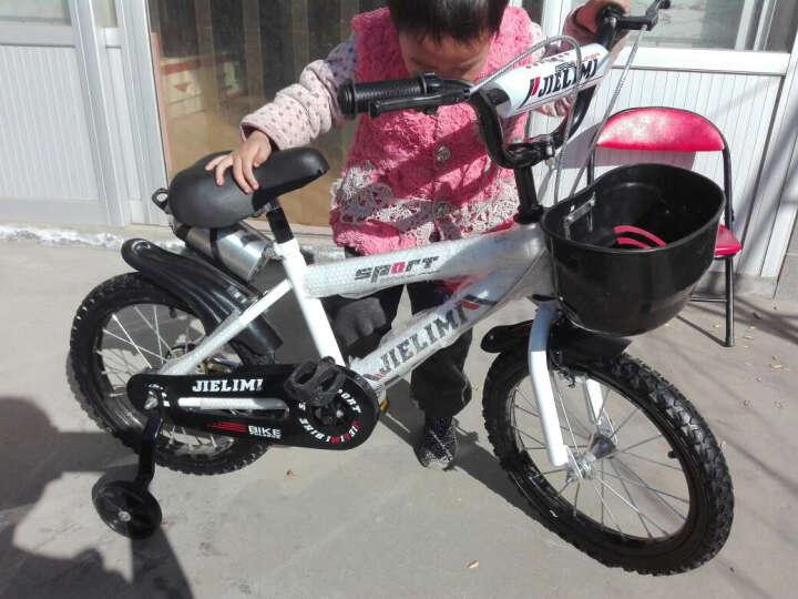 杰里米 男女童车儿童自行车14寸16寸12寸带辅轮 3/6/8岁小孩山地车宝宝小学生单车 12寸带水壶车篮 晒单图