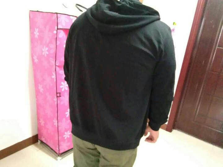 胖哥哥韩版大码开衫拉链卫衣男士休闲宽松加肥加大外套男胖子肥佬 碳灰色滴胶sutra拉链 5XL 晒单图