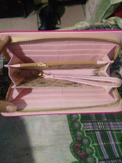 怡伽  新款三折女士钱包长款爱心简约女式钱包 长款-西柚色 晒单图
