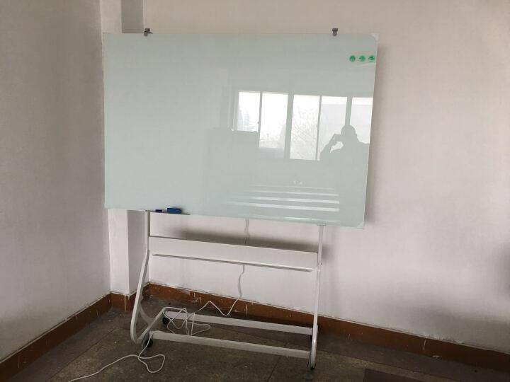 乖乖博士(GuaiGuaiBoShi) 磁性防爆钢化玻璃白板支架式可移动办公教学写字板 烤漆支架玻璃白板100*200 晒单图