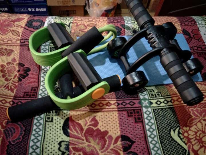 凯速KANSOON仰卧起坐健身器材脚蹬拉力器四轮健腹轮套装皮筋拉绳拉力器腹肌轮套装绿色 晒单图