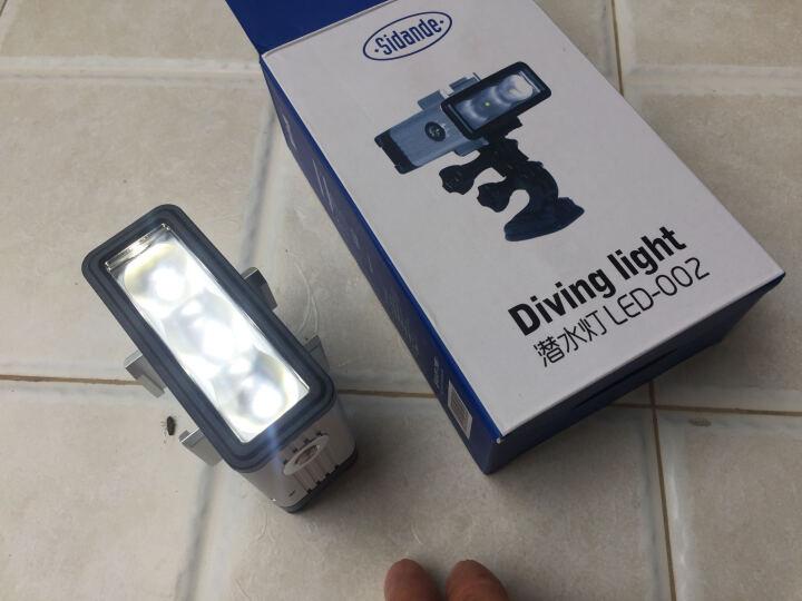 斯丹德(sidande)LED-002水下摄影补光灯Gopro Hero4/3小蚁相机运动配件 潜水灯 夜间补光灯外接照明 晒单图