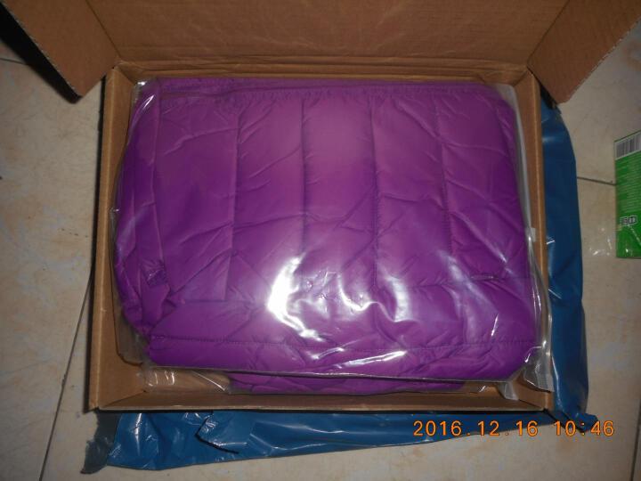 omlesa轻薄羽绒服女短款立领修身韩版新款秋冬装外套正品女装羽绒衣 紫色 XXXL(130-150斤) 晒单图