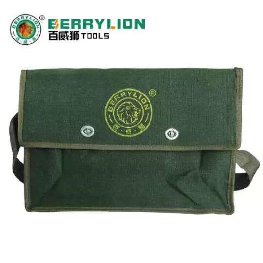 百威狮 双层特厚电工包 单肩式工具包 工具袋 工具挎包 帆布包 电工袋 大号双层(40cm) 晒单图
