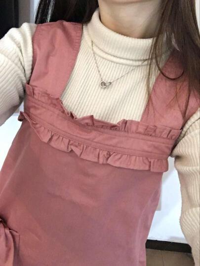 婧麒防辐射服孕妇装正品孕妇防辐射服银纤维肚兜四季 粉红色 XL 晒单图