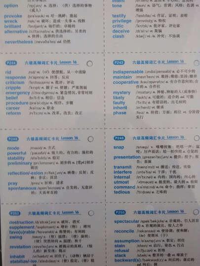 六级真题试卷 (2016.12新题型)赠2000词汇+24篇作文 华研外语 晒单图