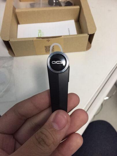 QCY Q8 单耳版 商务 蓝牙耳机 蓝牙4.1 耳机/耳麦 支持双声道 耳挂式 通用 无线耳机 银色 晒单图