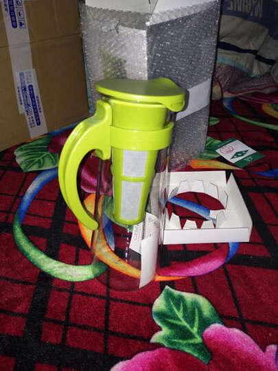 乐扣乐扣 玻璃杯 耐热玻璃凉水杯 果汁杯 啤酒杯 800ml绿色带过滤网 晒单图
