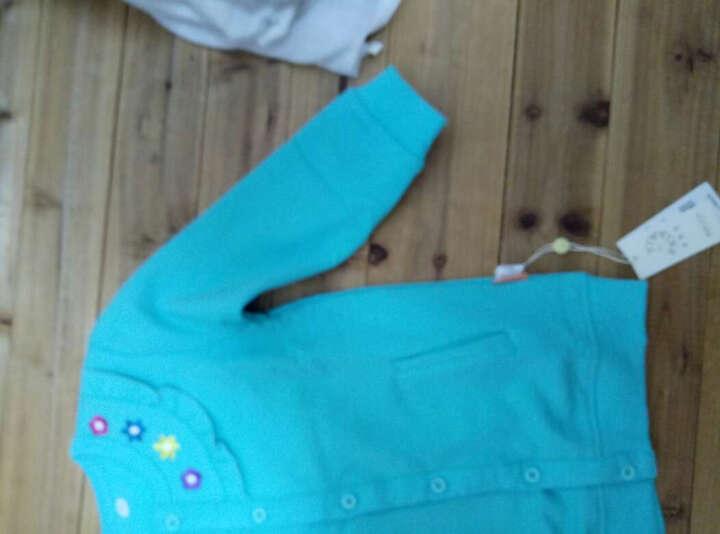 纤丝鸟童装儿童卫衣外套长袖春秋款男童女童春装宝宝纯棉上衣休闲 四色小花蓝绿 100 晒单图