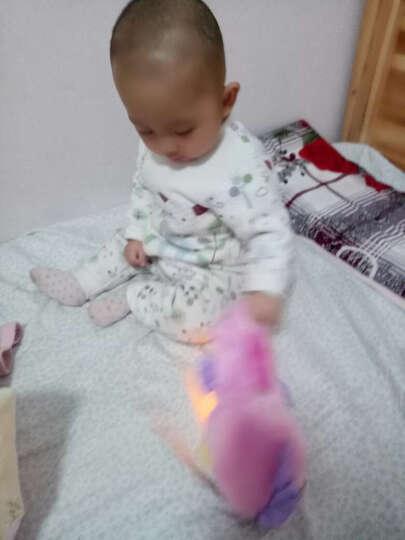皇儿(HUANGER) 婴儿玩具健身架宝宝男孩女孩多功能儿童电子琴益智玩具安抚海马早教机 健身架+安抚海马蓝色 晒单图