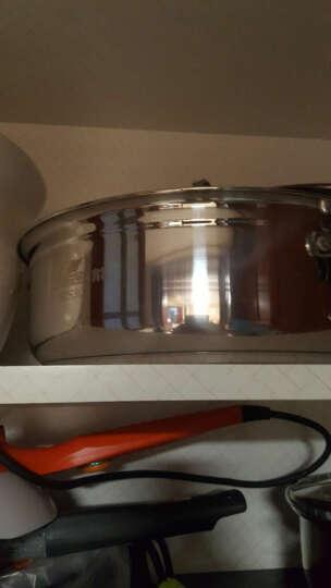 振能304不锈钢加厚复底火锅汤锅蒸汽火锅电磁炉燃气炉通用 28CM 晒单图