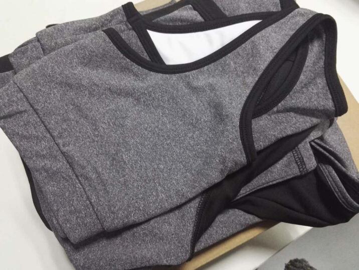 范迪慕(FANDIMU) 瑜伽服套装女春夏新款健身房运动服女修身显瘦瑜珈速干衣套装 天蓝色-短袖三件套 XXXL 晒单图