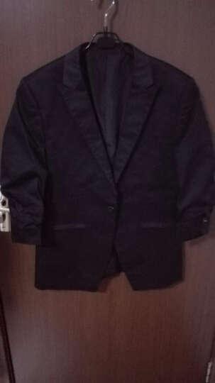【特】JDV男装 秋季男士纯色修身百搭七分袖西装 SMSJA4202BLK 黑色 175/92A 晒单图
