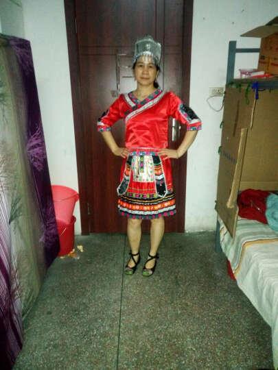 苗族服装苗族舞蹈演出服女装舞蹈服饰 红色7 M 晒单图