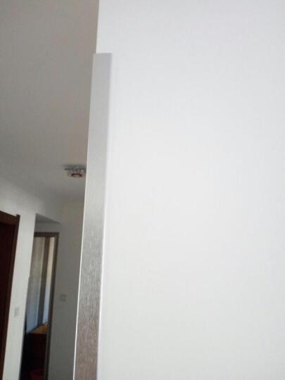 护墙角护角条免打孔  护角墙护角亚克力 护墙条非实木保护条  墙板防撞条 宝宝防撞贴 50*50*1.0MM拉丝银 1.2米 晒单图