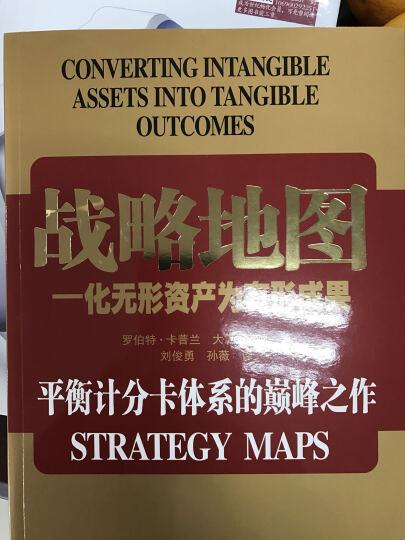 战略地图:化无形资产为有形成果 晒单图
