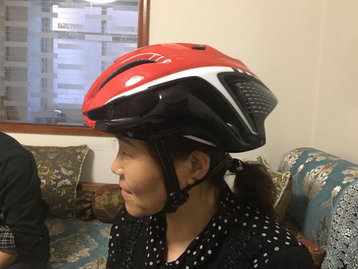 PEBUC骑行头盔  山地自行车头盔 高密度EPS一体成型无阻力气动造型男女单车安全帽 男 绿黑 晒单图