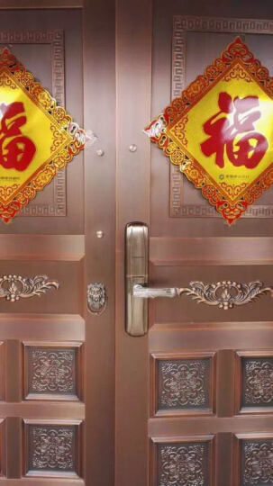 凯迪仕(KAADAS) 指纹锁 6017 智能锁密码锁 家用防盗门锁 电子密码锁 红古铜1PS 晒单图