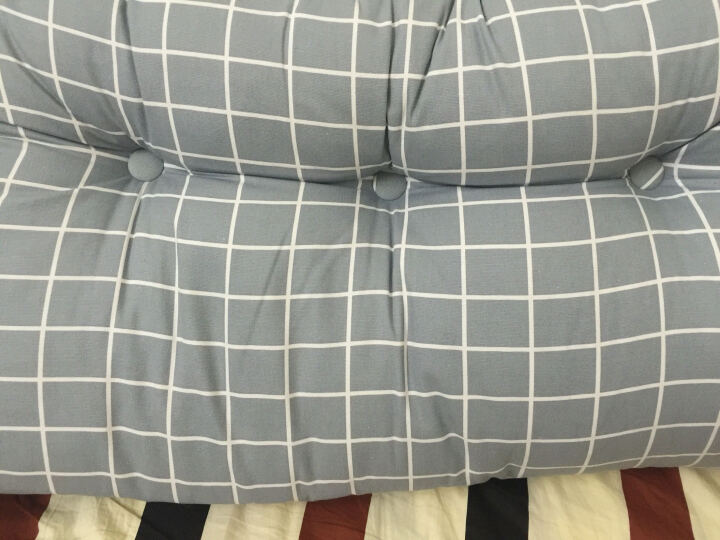 靠垫家纺 床头榻榻米靠背靠垫沙发大靠枕抱枕双人床头软包床上腰枕腰垫外套可拆洗 爱的花海 120长50高20厚 晒单图