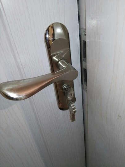 拜伦(byron) 欧式室内门锁纯铜锁芯套装 房间门卧室执手锁具合页门吸套装金拉丝门把手 镍拉丝BLN-2011PN 晒单图