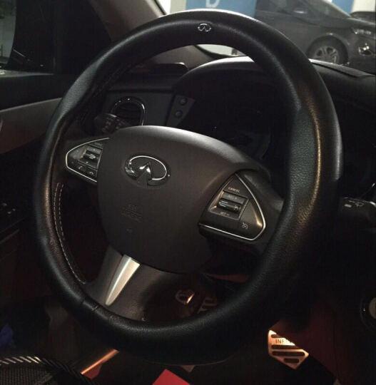 尚帕兰真皮汽车方向盘套四季把套奥迪宝马奔驰本田雅阁丰田卡罗拉福特福克斯现代名图日产轩逸 黑色--带车标志款 英菲尼迪Q50L qx50 q70l ex25 晒单图