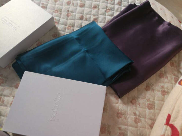 依纱贝拉/ISABELLA真丝枕套100桑蚕丝重磅丝绸枕头套重磅真丝枕套 【欧标】THE22MM 美式枕套 酱果紫/单只 晒单图