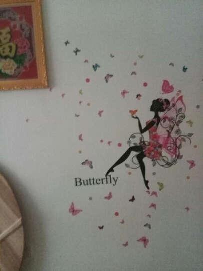 亮点 【三免一】 舞蹈女孩墙贴画房间沙发墙壁纸贴纸墙纸自粘装饰品儿童客厅卧室寝室宿舍背景墙 04.翅膀女孩(朝右) 大号 晒单图