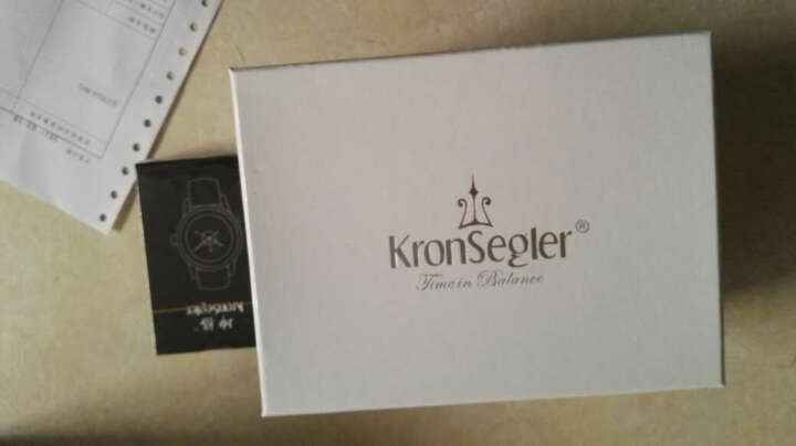 坤格(Kronsegler)手表 梵蒂冈天文台系列男士手表防水自动机械表 黑盘银壳黑带 KS702A.H 晒单图