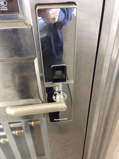 松下/Panasonic指纹密码锁 智能刷卡电子锁 家用防盗门锁 锁芯V-M680F/L 金色 右开门 无天地钩 晒单图
