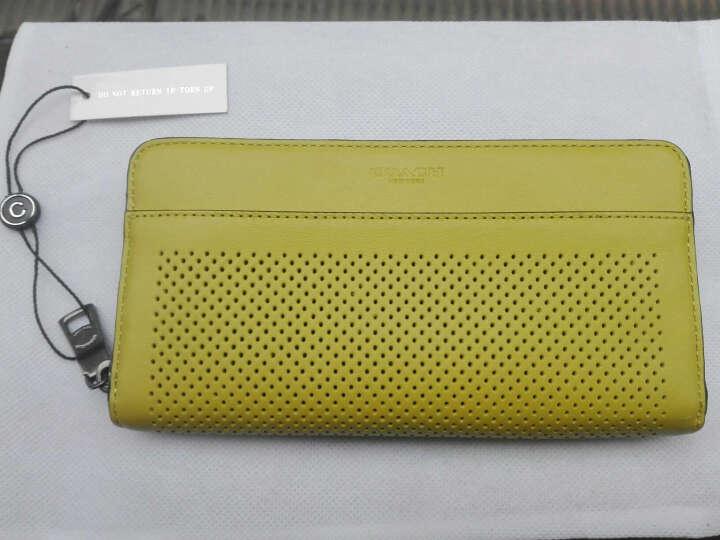 蔻驰 COACH 奢侈品 男士专柜款皮质长款钱包钱夹黄色 75222 CRT 晒单图