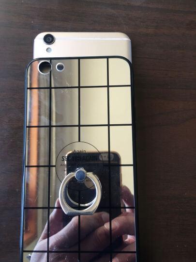 钜博 oppor9s手机壳镜面女潮男款防摔 保护套适用于oppo r9s/r9s plus 粉-方格 (r9splus-无指环款) 晒单图