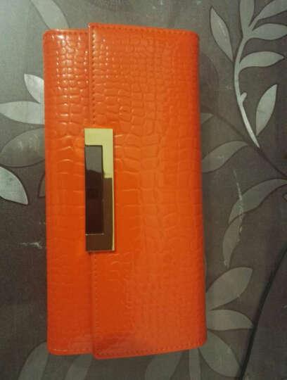 Viney 钱包 女长款女士钱包新款女式卡包手拿包女牛皮手包女 摩登橙 晒单图