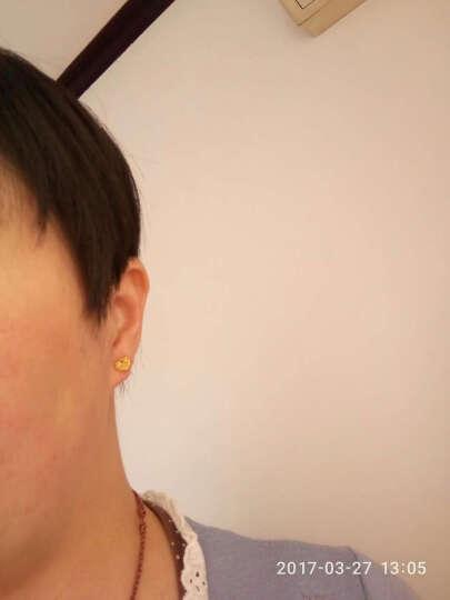 周生生点睛品  黄金耳钉足金吉祥系列喜乐如意耳钉耳环女款 84480E 定价 晒单图