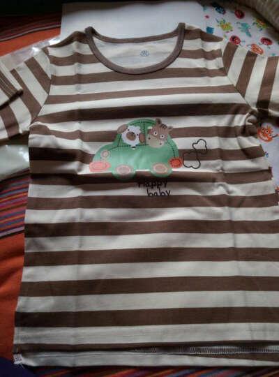 纤丝鸟童装春季新款儿童T恤女童百搭圆领上衣男童打底衫 花边星星-浅灰 120 晒单图