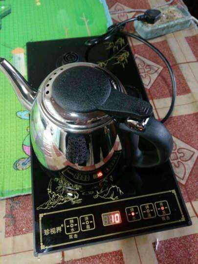 【发顺丰 送茶叶】香自吟 功夫茶具套装实木茶盘青花瓷陶瓷茶杯茶壶紫砂整套快速炉四合一烧水炉 二)马到成功(黑)窑变盖碗套组 晒单图
