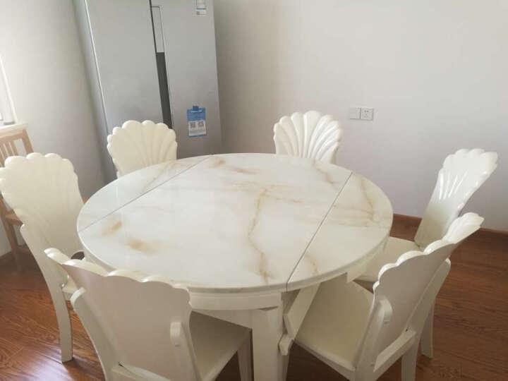 思家格调 大理石餐桌椅组合套装 现代简约餐厅家具 可伸缩折叠实木餐桌 圆形餐桌 餐桌+6把椅子 晒单图